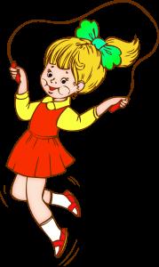 девочка на прыгалках