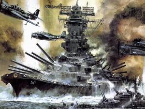 World_War_II_Yamato_battleships_war_ship_military_artwork-246924